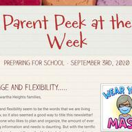 Parent Peek at the Week - September 3rd