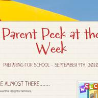 Parent Peek at the Week - September 9th