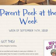 Parent Peek at the Week - September 13th