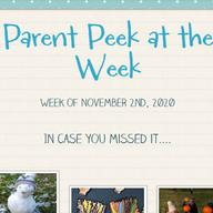 Parent Peek at the Week - November 2nd