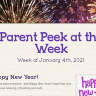 Parent Peek at the Week - January 4th
