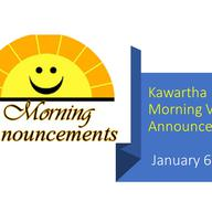 Morning Video Announcements - January 6th