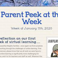 Parent Peek at the Week - January 11th