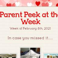 Parent Peek at the Week - February 8th